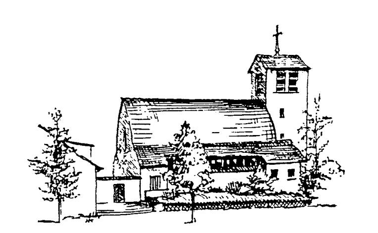 Bethanienkirche, gezeichnet von Herbert Krug